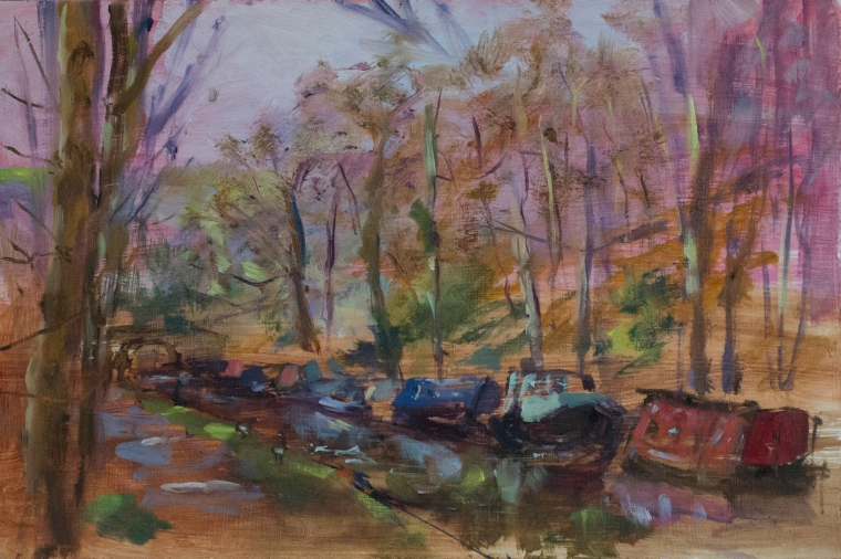 canal-boats-at-hebden-bridge-rachel-hinds-alla-prima