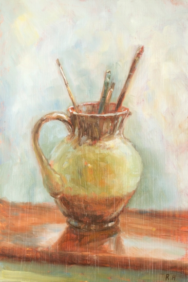 Jug and Paintbrushes Still Life Rachel Hinds